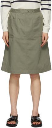 A.P.C. Khaki Thelma Skirt