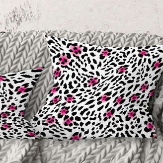 "East Urban Home Leopard Pattern Pillow Size: 18"" x 18"", Color: Black"