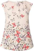 **Billie & Blossom Pink Butterfly Print Shell Top