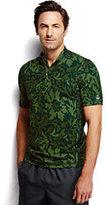 Classic Men's Half-zip Fashion Rash Guard-Evergreen Forest Print