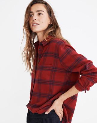 Madewell Flannel Oversized Ex-Boyfriend Shirt in Windowpane