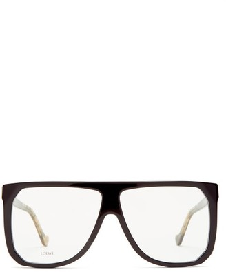 Loewe Flat-top Acetate Glasses - Womens - Clear