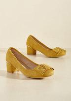 Go for Glam Vegan Heel in Marigold in 6