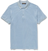 Loro Piana Slim-Fit Silk and Cotton-Blend Piqué Polo Shirt
