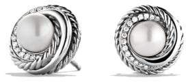 David Yurman Crossover® Earrings With Pearls And Diamonds