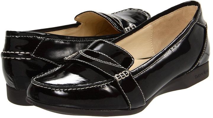 Taryn Rose Terry Loafer (Dark Brown Patent Leather) - Footwear