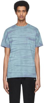 Saturdays NYC Blue and Purple Mineral Wash T-Shirt