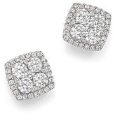 Bloomingdale's Diamond Cluster Square Stud Earrings in 14K White Gold, 1.0 ct. t.w. - 100% Exclusive