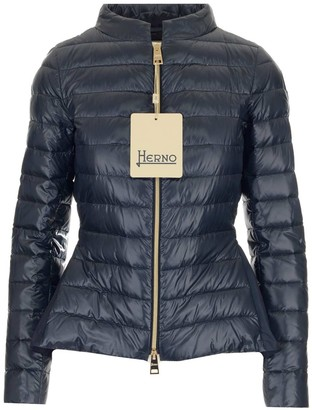 Herno Funnel Neck Quilted Down Jacket