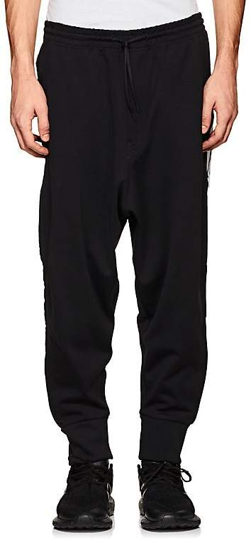 Y-3 Men's Cotton-Blend Tech-Jersey Jogger Pants