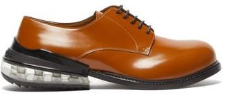 Maison Margiela Airbag Heel Leather Derby Shoes - Mens - Brown