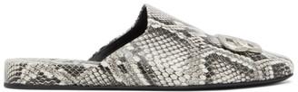 Balenciaga Grey Snake Cosy BB Mules