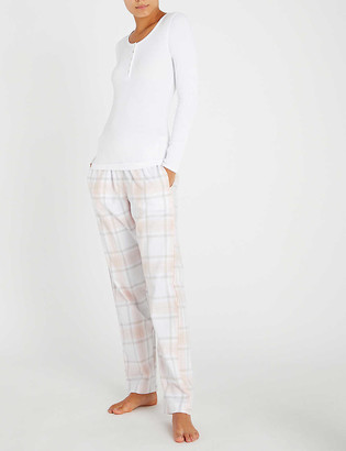 The White Company Henley cotton-blend pyjama top