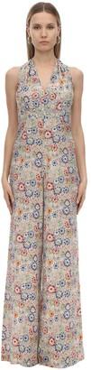 Mirae Emma Floral Printed Silk Jumpsuit