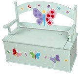 Levels of Discovery Olive Kids Butterfly Garden Bench Seat With Storage - Blue