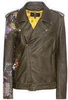 Etro Embellished Printed Leather Jacket