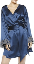 La Perla Maison Blue Silk Satin Short Robe