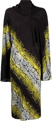 Rick Owens Acid-Print Asymmetric Dress