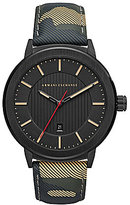 Armani Exchange Camouflage Leather Strap Street Analog Watch