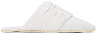 MM6 MAISON MARGIELA White Multi Strap Slip-On Loafers