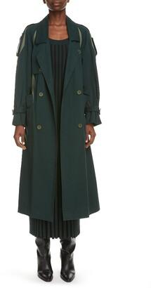 Kenzo Contrast Trim Trench Coat