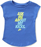 Nike Baby Girls 12-24 Months Ask Me About My Kicks Modern Tee