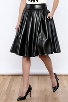 Gracia Faux Leather Skirt