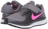 Nike FlyEase Zoom Pegasus 34 (Little Kid/Big Kid) (Cool Grey/Hyper Pink/Anthracite) Boys Shoes