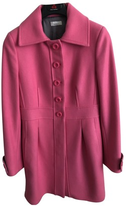 Pinko Pink Wool Coat for Women