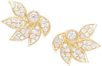 Jamie Wolf 18K Diamond Pave Lotus Stud Earrings