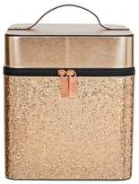 S.O.H.O New York Rose Gold Glitter Vanity Case