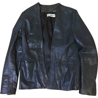 Mauro Grifoni Black Leather Leather Jacket for Women