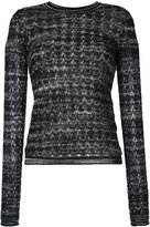 Missoni patterned longsleeved knitted blouse - women - Nylon/Viscose/Mohair/Alpaca - 40