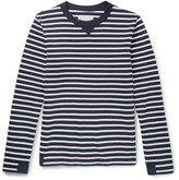 Sacai - Canvas-trimmed Striped Cotton Sweater