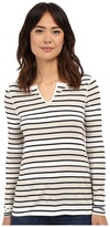 Three Dots Lara Reversible Long Sleeve Tee