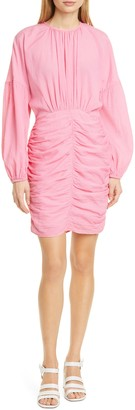 Rodebjer Adilah Ruched Long Sleeve Minidress