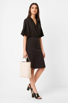French Connection Shukura Mix Jersey Shirt Dress