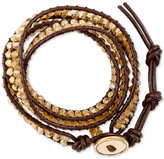 Lucky Brand Bead and Cord Wrap Bracelet