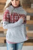 Ampersand Avenue DoubleHoodTM Sweatshirt - Snowfall