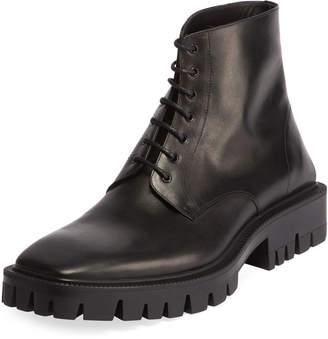 Balenciaga Men's Outdoor Rim Leather Combat Boots