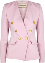 Alexandre Vauthier Pink double-breasted stretch-knit blazer