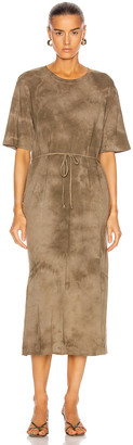 Raquel Allegra Belted Tie Dress in Army Tie Dye | FWRD