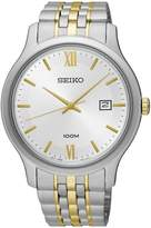 Seiko Men's Two Tone Special Value Stainless Steel Bracelet Watch SUR223