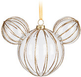 Disney Mickey Mouse Icon Glass Ornament - Golden Rib