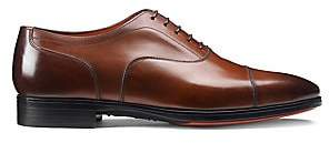 Santoni Men's Cap Toe Leather Oxford Shoes
