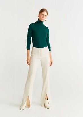 MANGO Turtle neck sweater light/pastel grey - S - Women