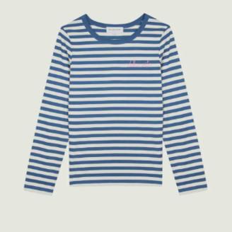 Maison Labiche Navy Natural Cotton Dolce Vita T Shirt - xs | cotton | Navy Natural