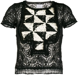 Chanel Pre-Owned 2004's geometric panel blouse
