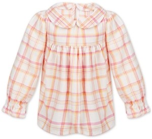 First Impressions Baby Girls Plaid Cotton Top, Created for Macy's