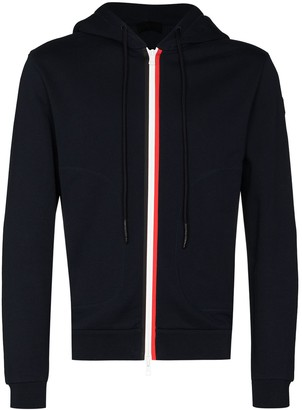 Moncler Stripe-Detail Zip-Up Hoodie